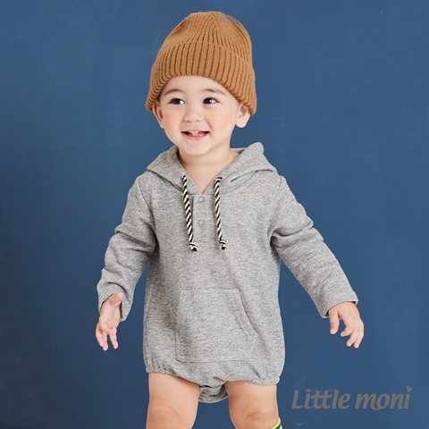 Little moni 連帽包屁衣(麻花灰)