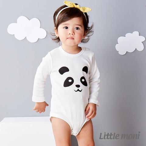 Little moni 純棉家居系列動物印圖包屁衣(白色)
