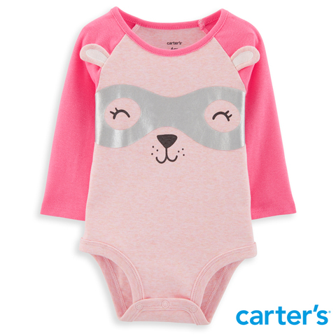 Carter's 台灣總代理 - 超人小熊造型包屁衣(粉紅)