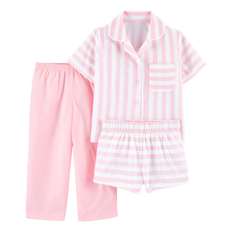 Carter's 美式粉紅條紋3件組套裝(6-8)