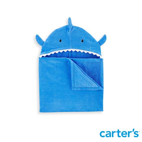 Carter's 台灣總代理 立體鯊魚藍色沙灘巾