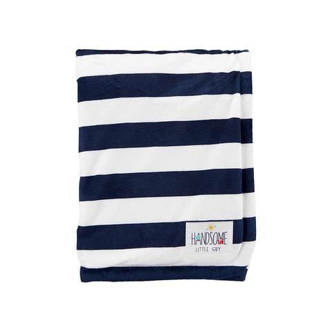 Carter's 台灣總代理 黑白寬條紋包巾(OSZ)
