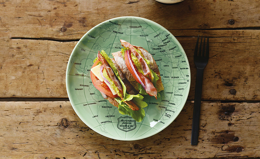 三明治、漢堡套餐Globe盤