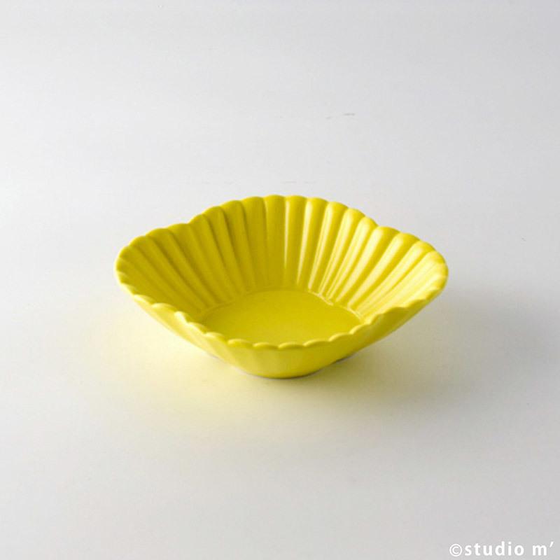菊割木瓜皿