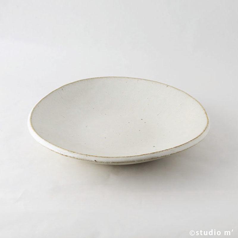 白唐津平鉢
