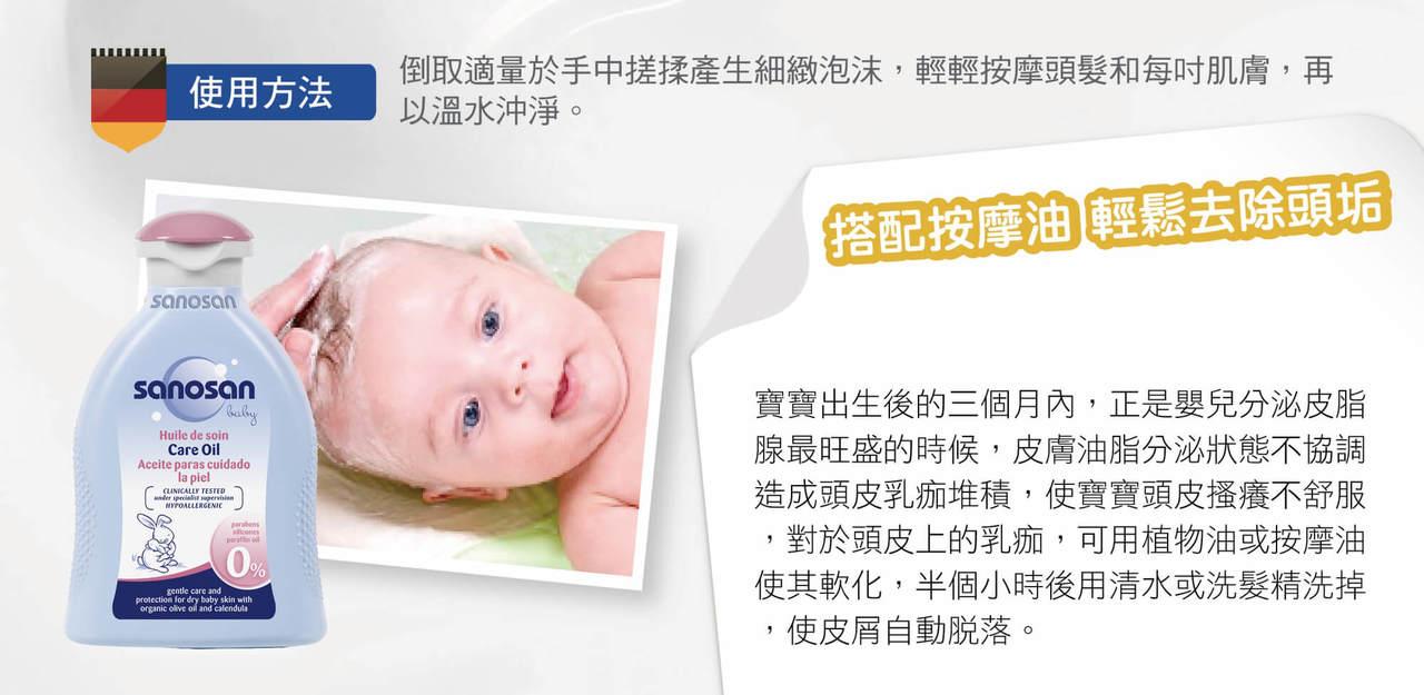 珊諾洗髮精,天然溫和不刺激,採用不流淚配方,水解乳蛋白具柔軟特性,使寶寶頭髮柔順不糾結不乾澀,嬰兒兒童均可使用